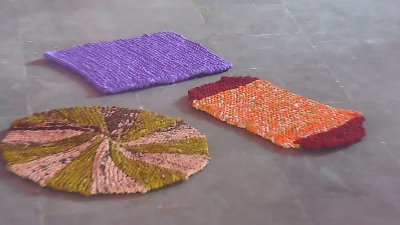 a4d0df8e2 Mats Making with waste sarees - YouTube