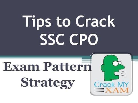 How to crack Ssc cpo preparation exam pattern syllabus