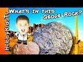 What's in GEODE ROCKS? Rock Hunt Adventure + Science Lab Surprise by HobbyKidsTV