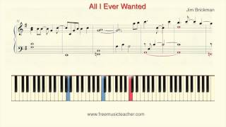 "How To Play Piano: Jim Brickman ""All I Ever Wanted"" Piano Tutorial by Ramin Yousefi"