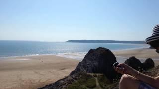 Three cliffs bay in Swansea.