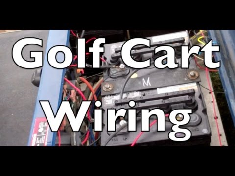 ez go txt 36 volt wiring diagram lighted rocker switch golf cart electrical youtube