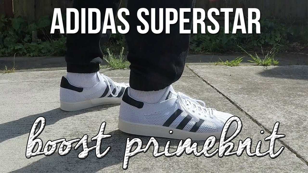 adidas superstar boost on feet