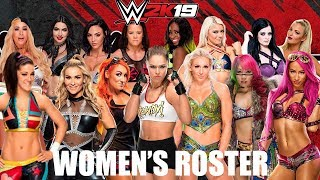 WWE 2K19 - {FUNNY!!} MY THOUGHTS ON THE WOMEN'S ROSTER OF 2K19