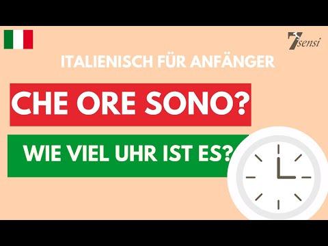 Italienisch Für Anfänger   Die Uhrzeit   Lektion 1