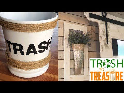 DIY FARMHOUSE DECOR || TRASH TO TREASURE