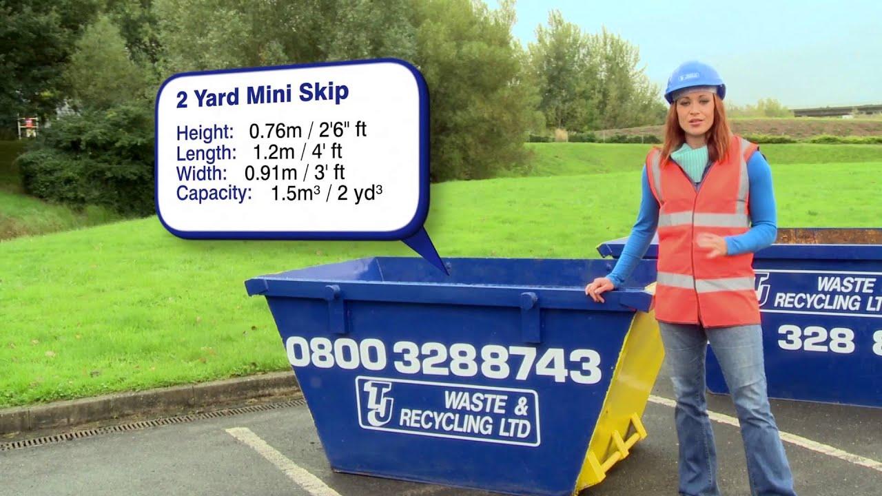Skip Hire Info 2 Cubic Yard Mini Skip Available From Tj