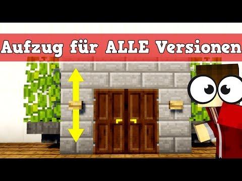Minecraft Aufzug für Pocket Edition , Konsole und PC | Minecraft Aufzug bauen deutsch