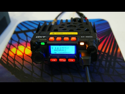QYT KT8900 Dual-Band VHF/UHF 25W/20W Mini Mobile HAM Radio