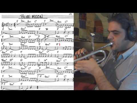 Blue Moon  - trumpet cover (slow theme tutorial)