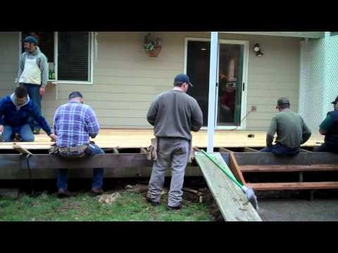Stanwood Deck Resurface  Jan 2011 Thank You MVP Volunteers