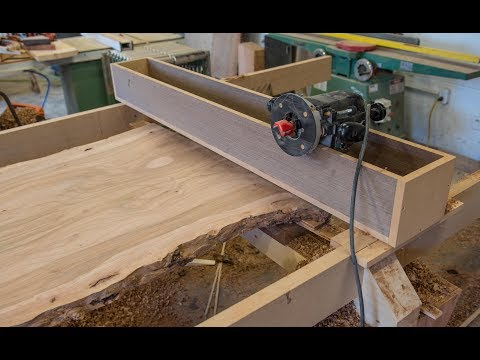 Woodworking, How To Flatten A Live Edge Slab