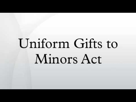 Uniform Gifts to Minors Act - YouTube