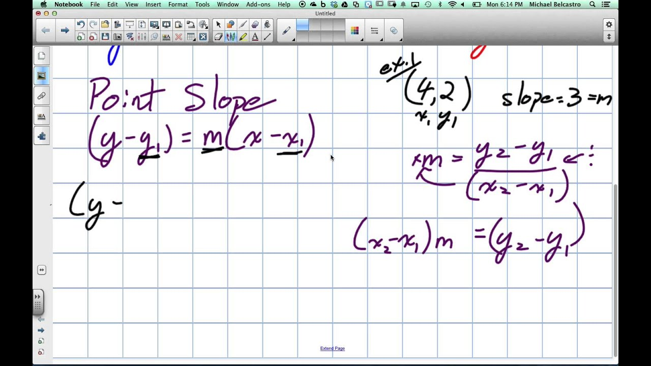 Forms of Linear Equations Grade 10 Academic Lesson 2 3 4 28 14 - YouTube