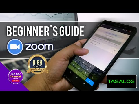 HOW TO USE ZOOM APP TUTORIAL (2020) TAGALOG | How To Install + How To JOIN MEETING?