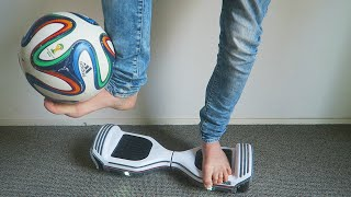 IMPOSSIBLE HOVERBOARD FOOTBALL TRICKS! (Q&A KWEBBELKOP)