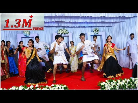 A Dialogue Filled Knanaya Wedding  Flash Mob | Shaji Pappan | Margazhiye Mallikaye