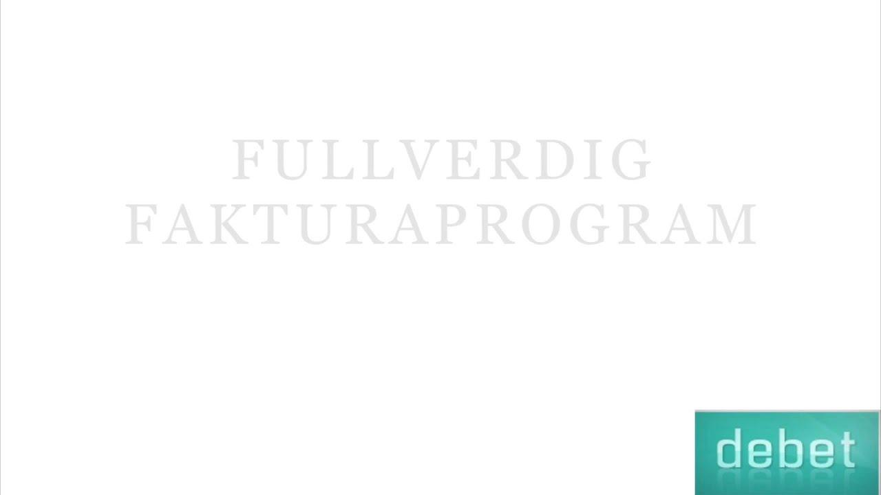 Debet Faktura - Gratis fakturaprogram