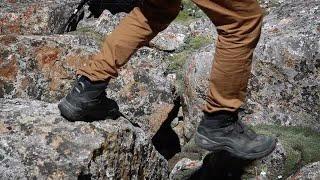 Alpinist Jumping Between Rocks  Stock Video