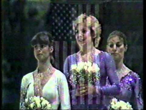 Elaine Zayak - 1982 World Figure Skating Championships - Award Ceremony and Interview