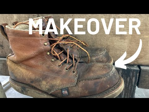 Thorogood Moc Toe Boot Restoration | Total Boot Makeover