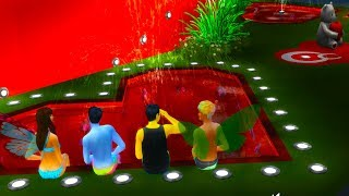 Heart Pool ! Age Up Birthday Party   Fairy Family  SIMS 4 Game Let's Play  Video Part 61