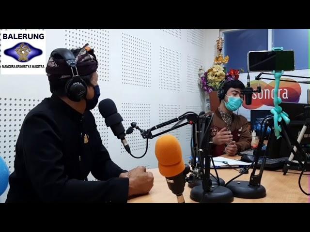Wawancara onair A.A Gde Oka Dalem di Sonara Bali 98.9 FM