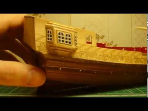 видео: Голландская яхта d'orо. Сборка модели. Часть 6.