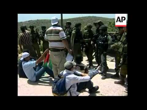 Palestinian protesters scuffle with Israeli army; army withdraws from Gaza