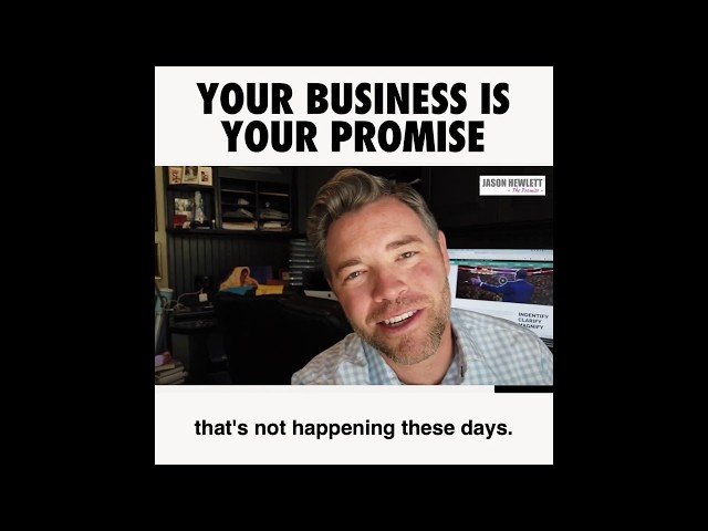 Your Business is your Promise