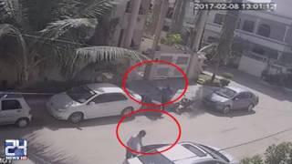 Karachi CCTV footage of Gulistan e Jauhar Home Robbery