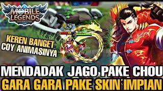 MENDADAK JAGO PAKE CHOU KARENA PAKE SKIN IMPIAN DRAGON BOY WKWK!! AUTO BANTAI COY - Mobile Legends