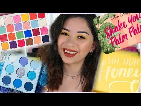 NEW EYESHADOW PALETTES IN MY COLLECTION! thumbnail