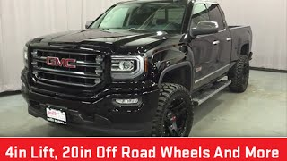 2016 GMC Sierra 1500 SLE Double Cab 4WD 4 Inch Suspension Lift Oshawa ON Stock # 160391