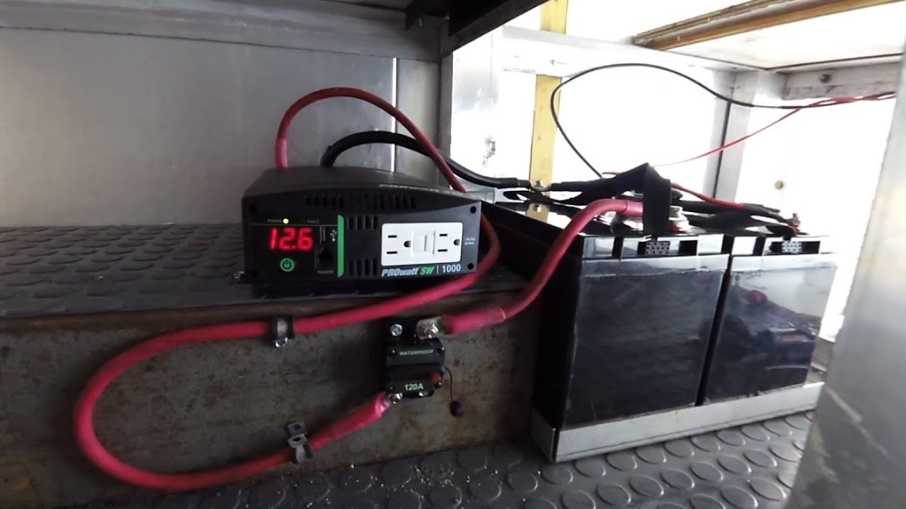 box truck camper inverter and rv battery install electrical 35 youtube rh youtube com wiring batteries in series or parallel wiring batteries in parallel diagram