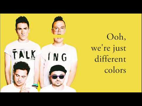 WALK THE MOON - Different Colors (Lyrics)