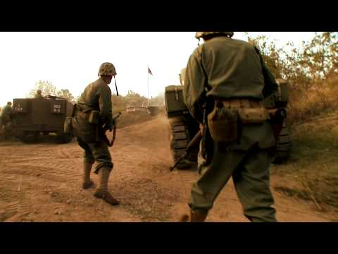 Pacific War- Battle Reenactment at Pacific War Museum in HD