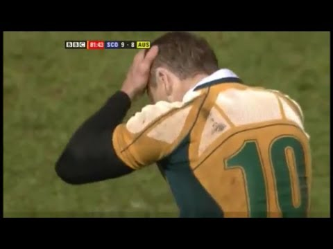 Matt Giteau costs Australia match against Scotland