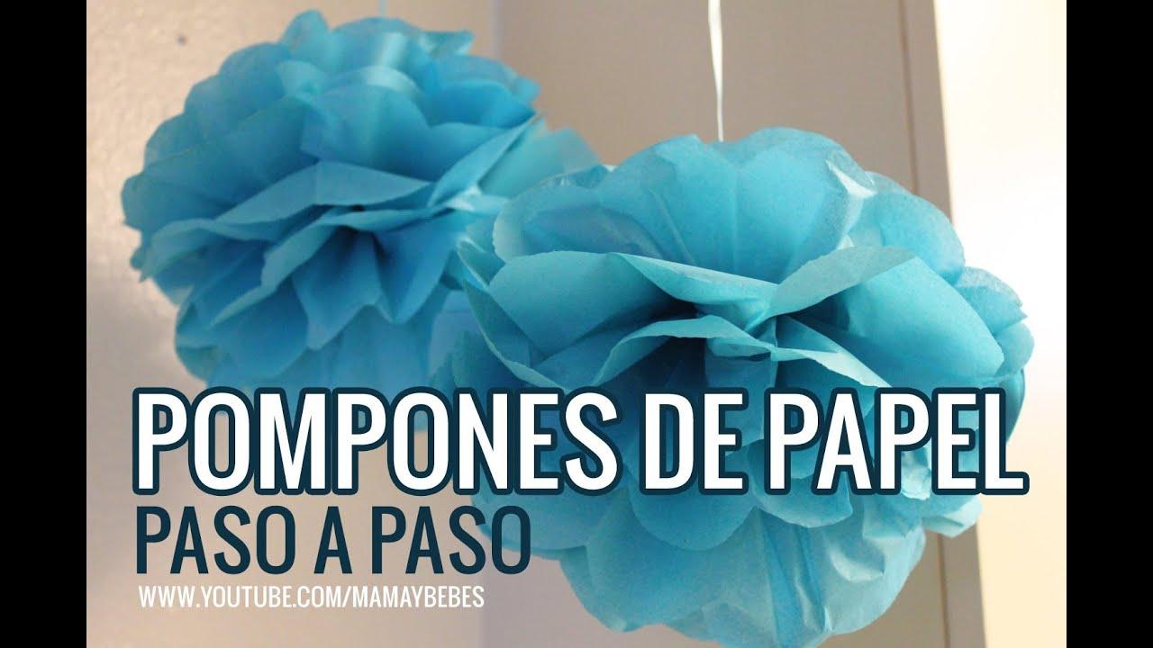 Pompones paso a paso c mo hacer decoraciones de papel - Pompones con papel de seda ...