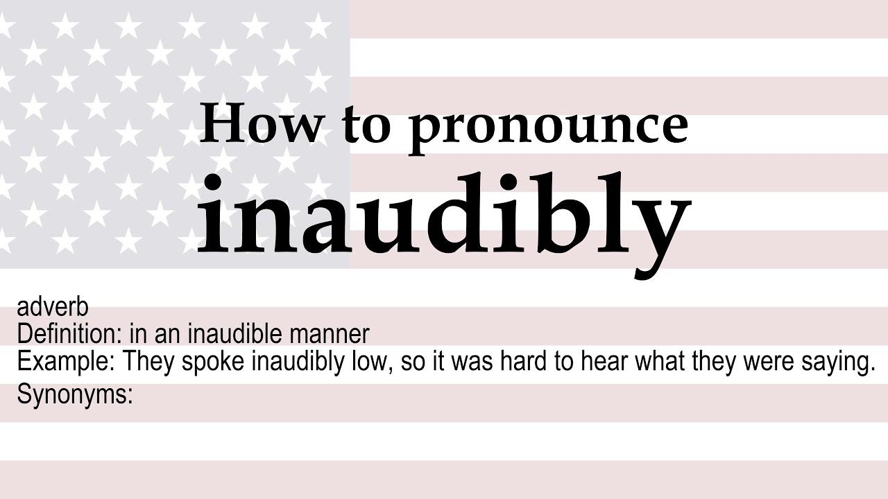 Inaudibly