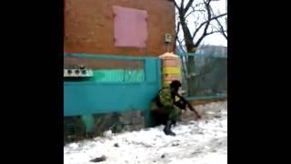 Уличный бой в Дебальцево 18+ Видео боевиков