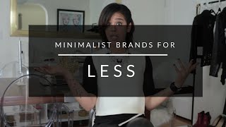 Minimalist Brands For Less