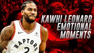 Every Time Kawhi Leonard Was Emotional [HIGHLIGHTS]
