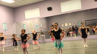 Ballet dance practice performance