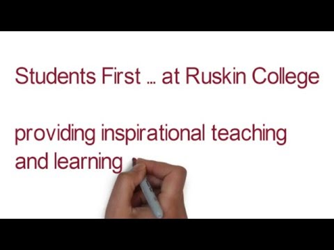 Ruskin College Student First Values