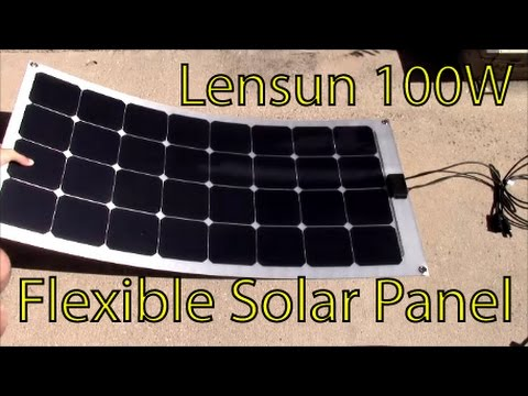 Lensun 100W Semi Flexible Solar Panel