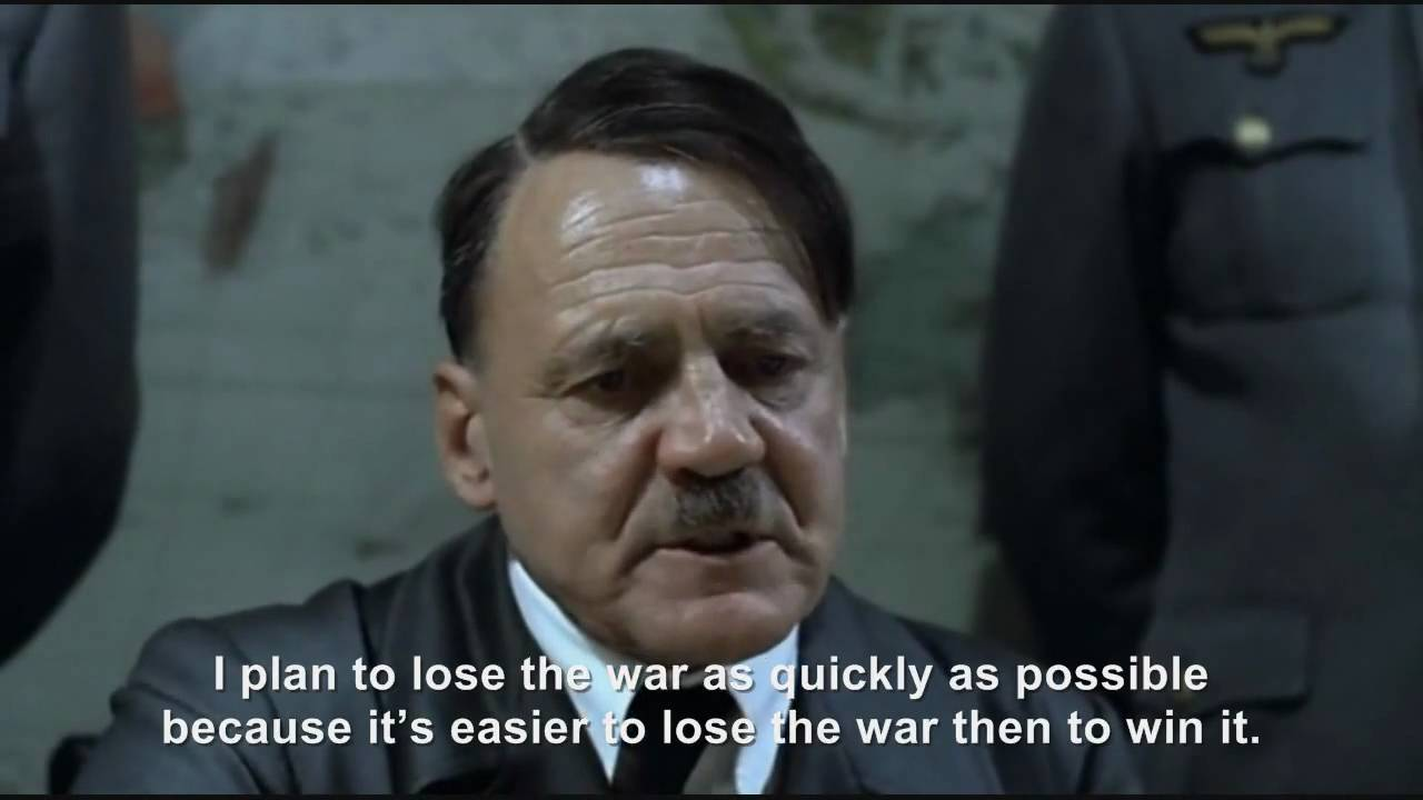 Hitler plans to lose the war