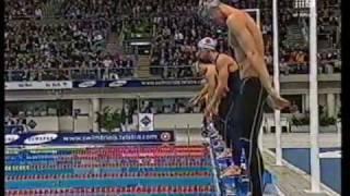 2000   Geoff Huegill Vs Michael Klim   100m Butterfly   Olympic Selection Trials   0.01 sec