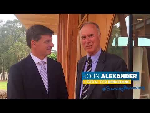 Angus Taylor MP with Liberal Candidate for Bennelong John Alexander