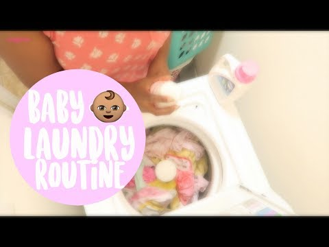 BABY'S LAUNDRY ROUTINE + MOMMY HACK ✨